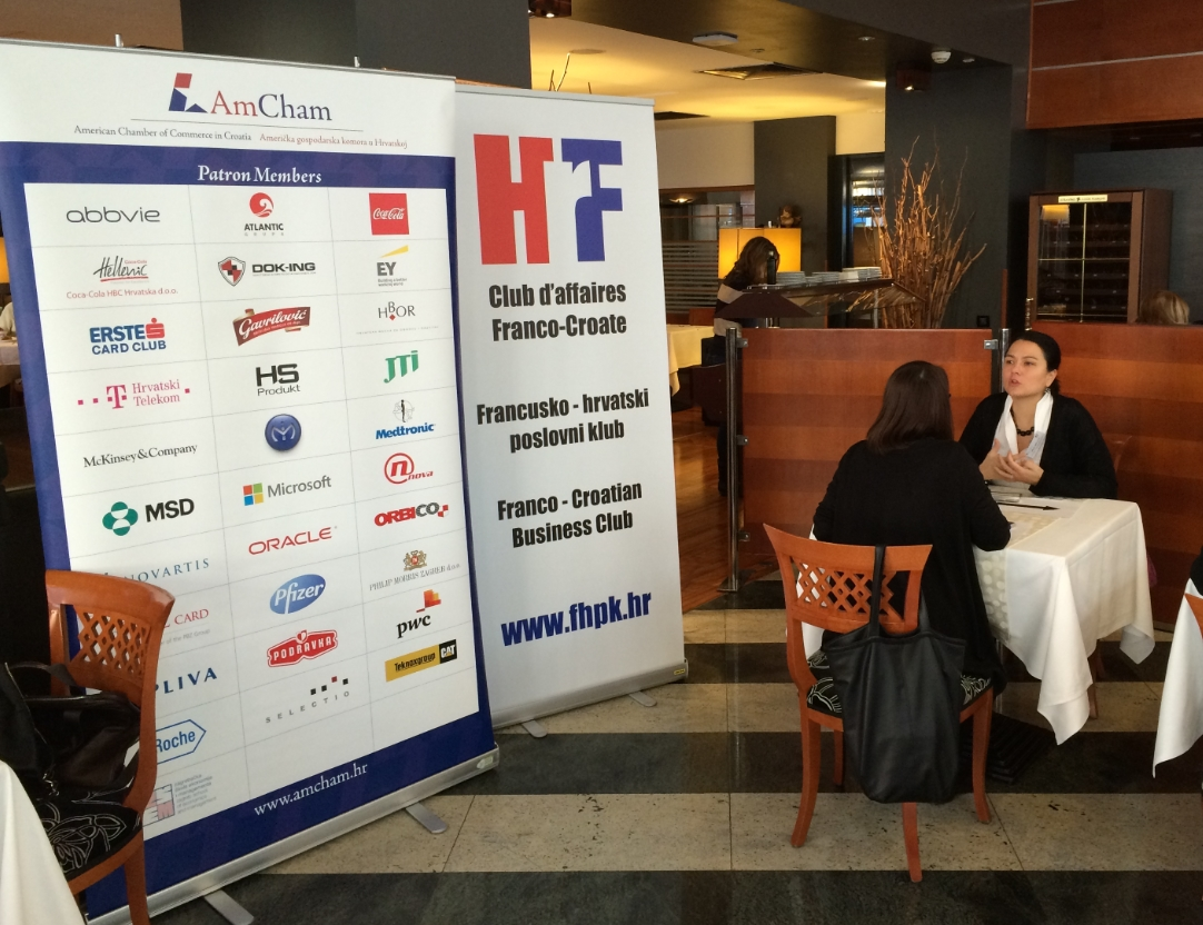 American Chamber of Commerce in Croatia and Franco-Croatian Business Club - joined Speed Networking event